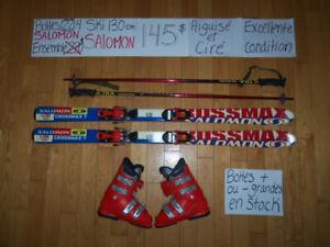 RABAIS POUR FAMILLE Ensembles Ski alpin 130 cm Liquidation