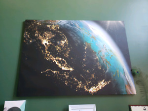 Large Earth Canvas