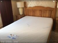 Heavy solid double bed with mattress