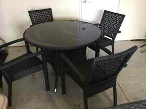 Round Patio Table + 4 Chairs For Sale