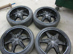 Bmw F01 F02 Helo Black 2 Piece Rims 20 Inch Tires 750 760