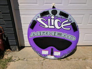 Towable two person tube