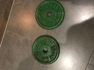 Two 10 lb weights, new, never used
