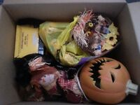 BOX OF ASSORTED HALLOWEEN ITEMS FREE!