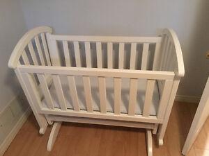 Beautiful white cradle