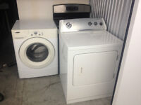 4yr old Stackable Washer Dryer combo Amana/Whirpool 27'