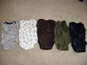Five Carter's Bodysuits With Long Sleeves- Age 3 months