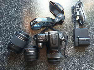 Sony A500 with lenses