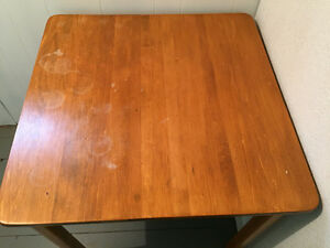 Small solid wood kitchen table