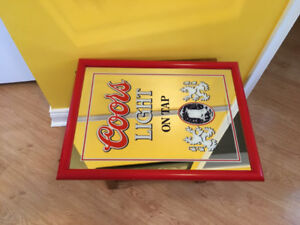 Vintage Coors Light Beer Advertising Mirror Wall Decor Pub