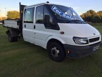 2006 FORD TRANSIT FACTORY ALLOY TIPPER LOW MILES *11 MONTHS MOT* GREAT CONDITION LOOK NO VAT £3800!!