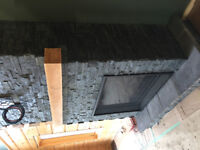 Indoor stone/brick fireplaces and accent walls