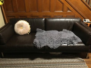 IKEA bond leather couch