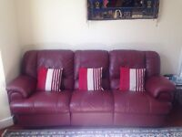 *Italian Red Leather* Excellent Condition.
