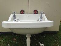 Vintage Shanks bathroom sink and taps