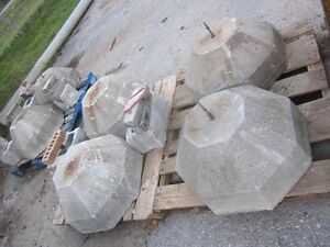 """Decorative Concrete Bases - 8 sided - 2' bottom - 12"""" top London Ontario image 1"""