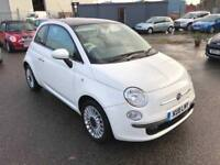 Fiat 500 1.2 Lounge Start Stop, £30 A Year Road Tax, Bluetooth, panoramic sun roof, Warranty