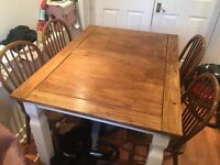 Shabby chic rectangle table & 4 chairs