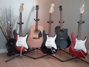 VARIOUS GUITARS AND AMPS