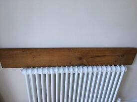 Oak plank for fireplace feature