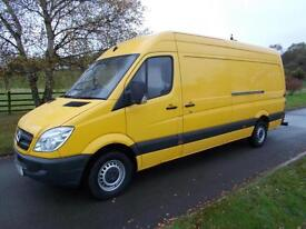 MERCEDES SPRINTER 313 CDI LWB VAN 61 REG 80,400 MILES RACKING SYSTEM IN REAR