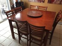 Dining table - 10 piece bar height