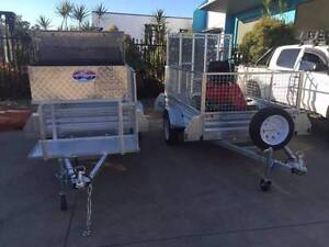 Gal 7x4 Trailer package with Mower Pad Ramp and Toolbox Slacks Creek Logan Area Preview