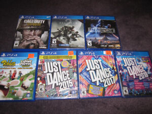 PS4 - Selection - Games and Accessories - $7 & up -New, See List