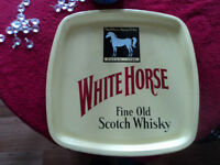 Vintage (Original) White Horse Tray