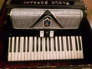 PAOLO SOPRANI Accordion, Black with Silver, Mint, Made in Italy