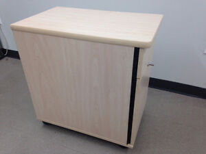 Locking Solid Wood Filing Cabinet with Two Drawers - $89 OBO