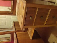 Antique  dressing table 3 mirror dove tail