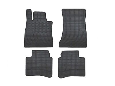 Gummifussmatten für Mercedes S-Klasse W222 ab Bj. 2013 LANG STUFENHECK schwarz