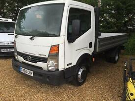NISSAN CABSTAR 35.13 MWB SHR DROPSIDE NOT TIPPER, White, Manual, Diesel, 2010