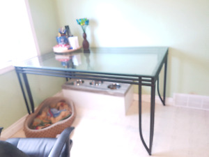 Glass kitchen / dining room table