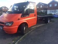 Ford transit 2002 recovery , beavertail truck