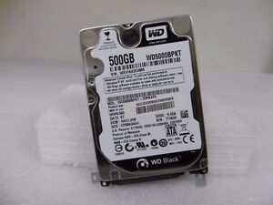 GENUINE WESTERN DIGITAL SATA 500GB 7200RPM LAPTOP HARD DRIVE