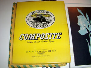 LOT OF OVER 200 SHEETS ASSORTED CARBON PAPER-FLORAL-BEAVER+