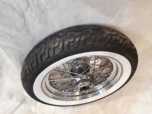 Harley Davidson - Laced Front and Rear wheel with rubber