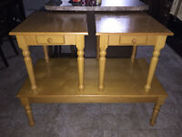 SOLD PPU - Coffee table and 2 end tables for sale - 75$
