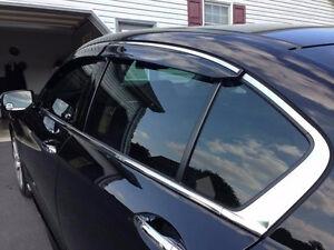 12-16 Honda CR-V Window Visor w/Stainless Steel Chrome Edge