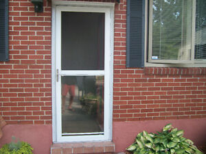 Screen door great deals on home renovation materials in for Storm door with roll up screen