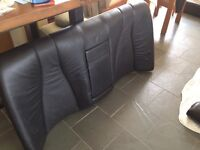 Mercedes w220 black leather seat set for sale