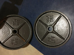 45lbs Olympic weight plates x 2
