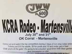 *****KCRA RODEO- MARTENSVILLE JULY 30 - JULY 31