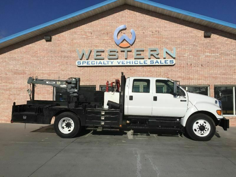2007 Ford F650 Crane Truck Cab & Chassis Flatbed