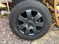 """Vw t5 16"""" alloys with nearly new general grabber Tyres"""
