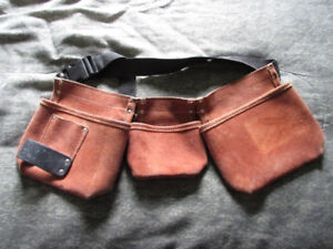 Leather work pouch or Change pouch, adjustable sizes.