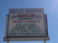 FOR SALE: Laundromat & Dry-Cleaning Business in High Level, AB!