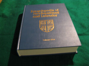 Encylopedia of Newfoundland volume 5 New $20